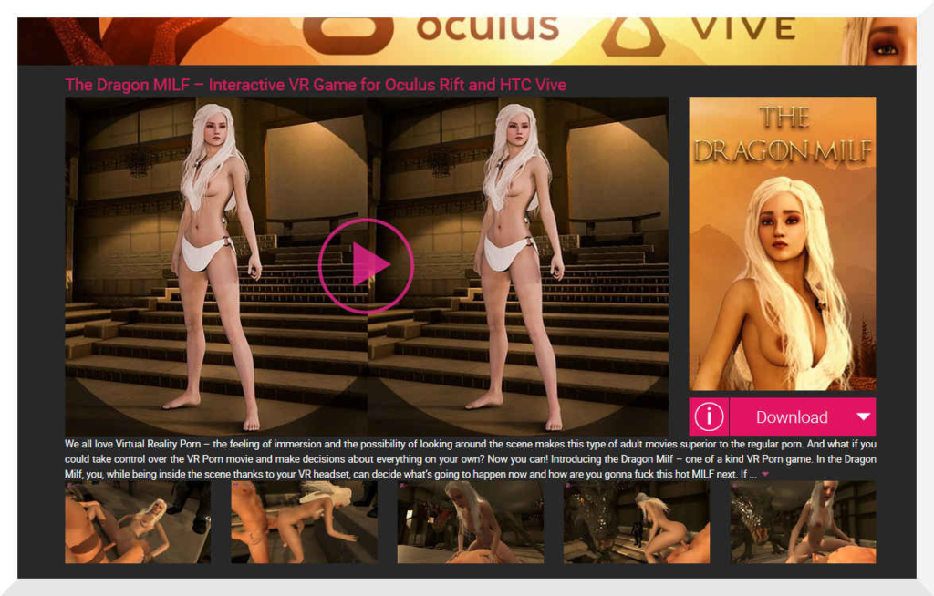 This is VRbangers.com VR porn game called Dragon Milf