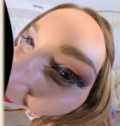 close-up Taylor Sands' face in a virtual porn movie from Virtual Real Porn
