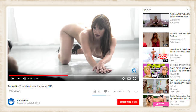 BabeVR on youtube header