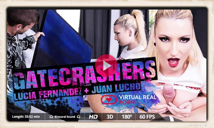 Gate Crashers Lucia Fernandez free VR porn trailer