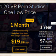 Subscription pricing model of RealVR.com