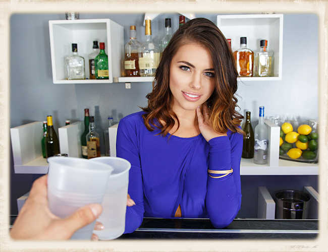 Adriana Chechik is bartender in BaDoinkVR free release picture