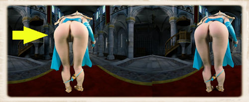 Arya Fae's ass in video editing software