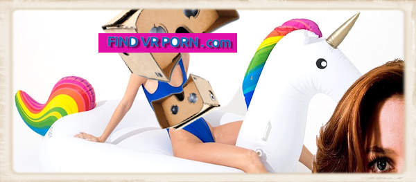 findvrporn.com homepage fun graphic swimsuit unicorn vr headset