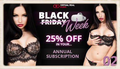 Virtual Real Porn Black Week 2018 subscription special discount