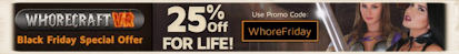 WhoreCraft and Lethal VR Black Friday special discount