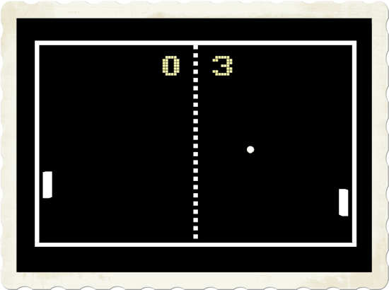 Pong well illustrates just how far video game technology has come...and, how quickly!