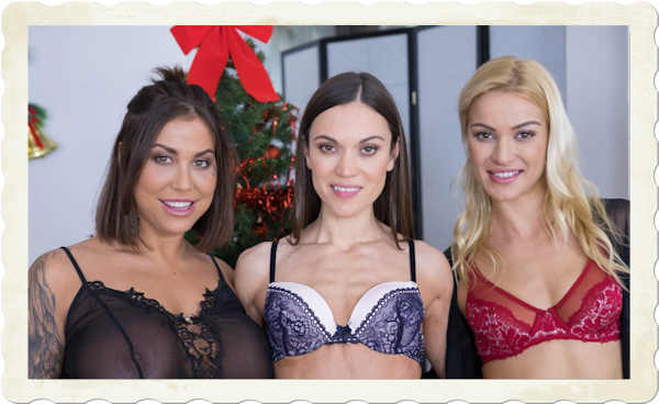 Heidy Van Horny, Alyssa Reece and Cherry Kiss in a free, full-length movie from CzechVR (released December 21, 2018).