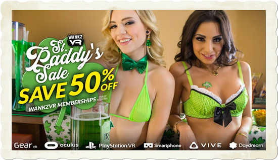 50 percent off WankzVR for St. Patricks Day 2019