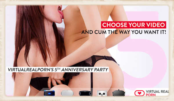 Virtual Real Porn 5th anniversary header