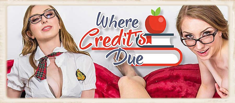 Gracie May Green VR porn WankzVR Where Credits Due