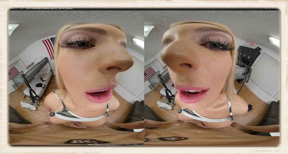 Kayley Gunner face close up VR Bangers