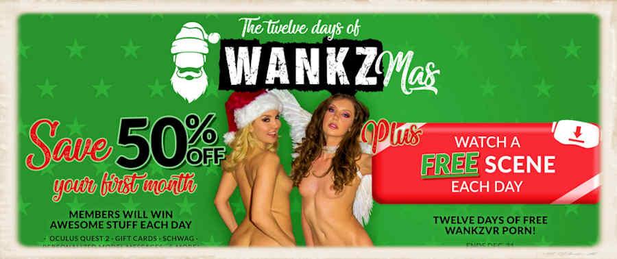 Twelve days of WankzMas VR porn 50% Christmas discount