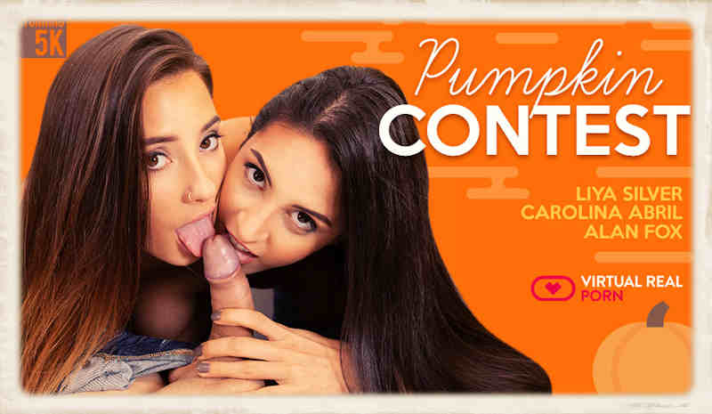 A free virtual porn scene from VRP. Pumpkin contest featuring some seriously fine 3D porn gal