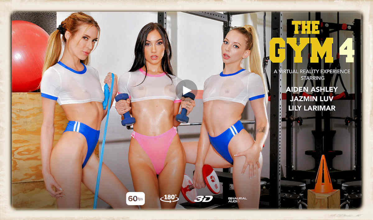 The Gym 4 Aiden Ashley Jazmin Luv Lily Larimar Naughty America VR