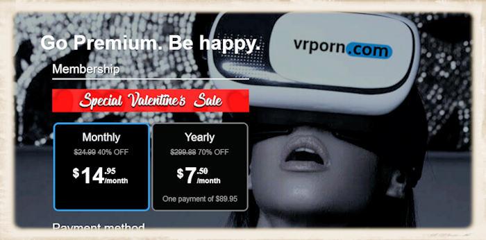VRporn.com Valentines Day Discount