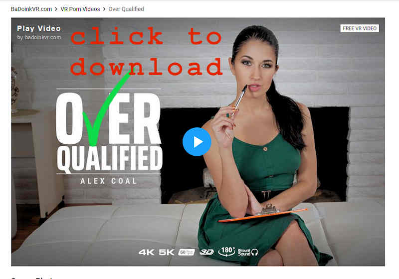Alex Coal Over Qualified free vr porn download from BaDoinkVR