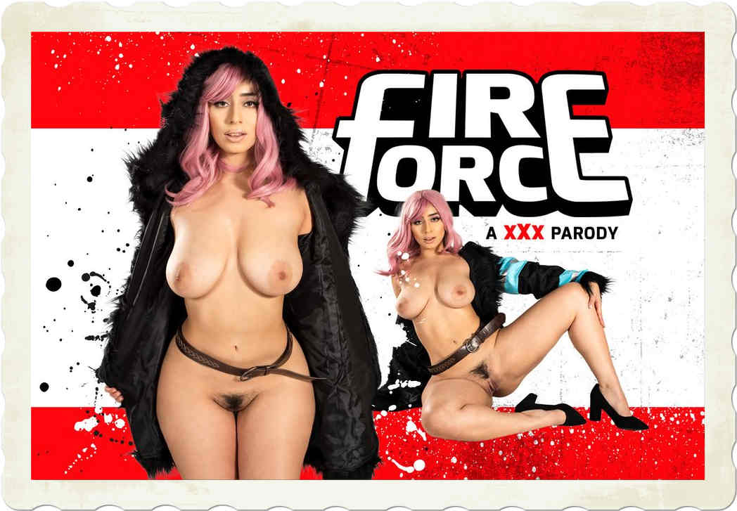 Violet Myers stars in a VR CosplayX scene called Fire Force