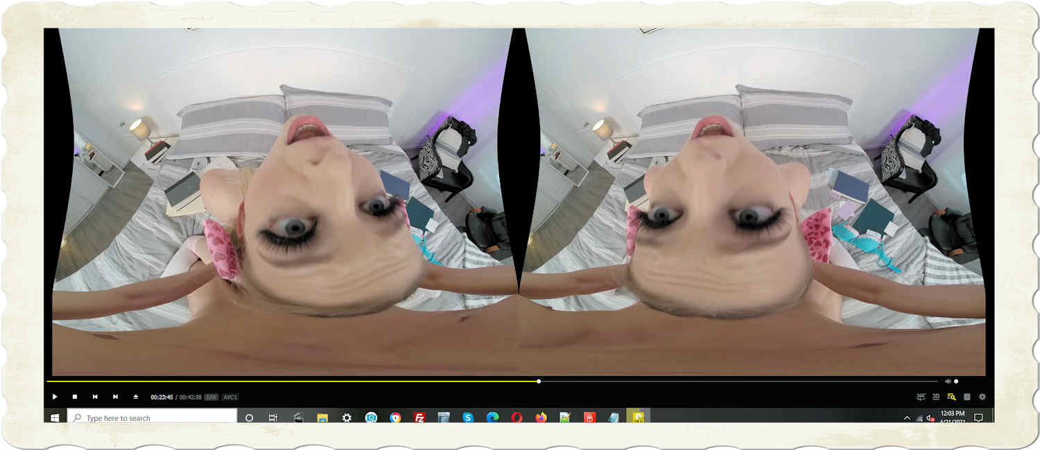 Lily Larimar fucked hard 23:45 on timeline in this from behind head pulled back... honestly, this is VR porn at its best