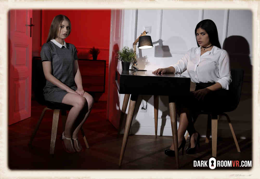 First Lesson Free from Darkroom VR starring Sheila Ortega and Bonnie Dolce