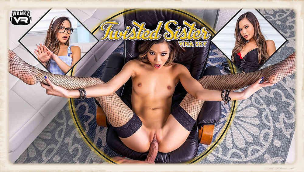 Vina Sky stars in Twisted Sister for WankzVR