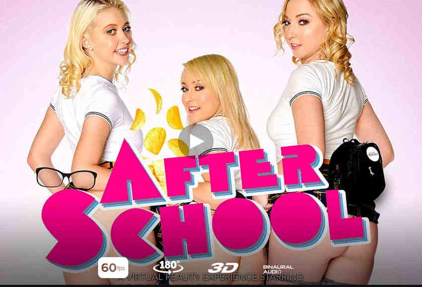 Naughy America VR After School starring Chloe Cherry...HORNY!