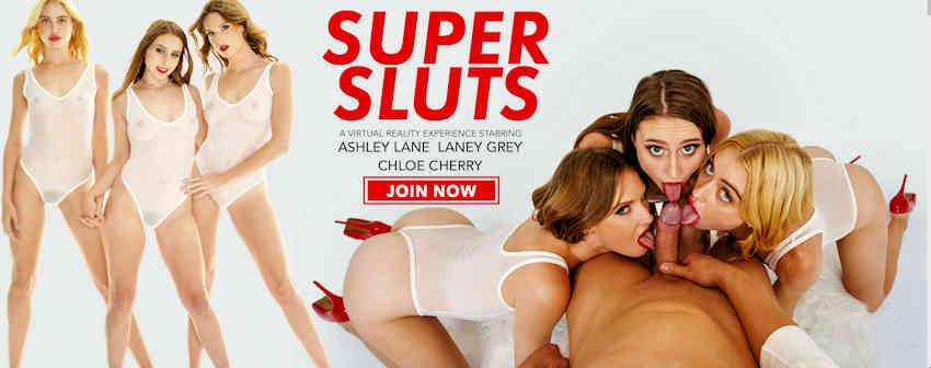 Super Sluts from Naughty America VR starring Lane, Grey and Cherry