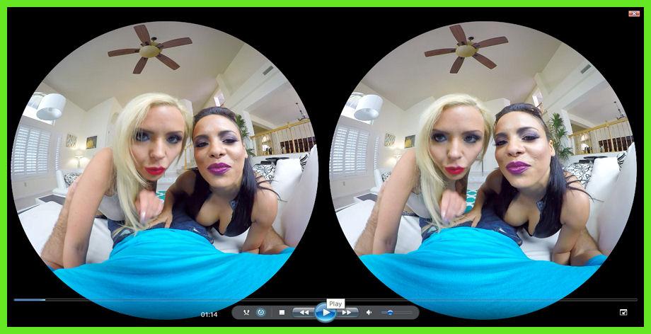 Nina Elle and Luna Star are VR hooker porn
